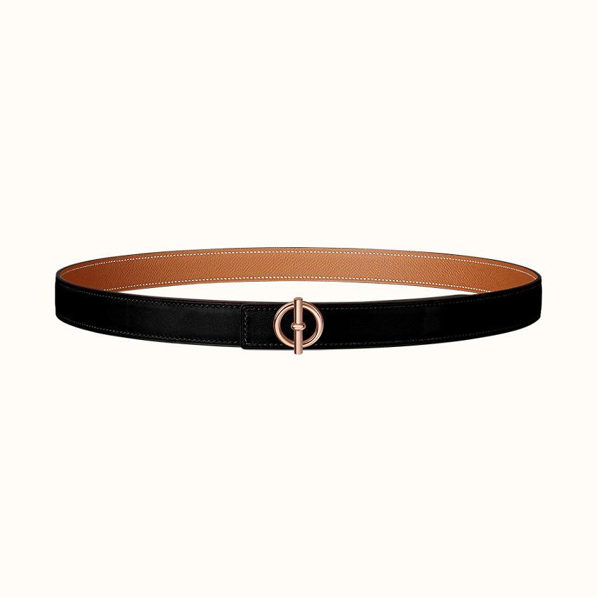 zoom image, Glenan belt buckle & Reversible leather strap 24mm