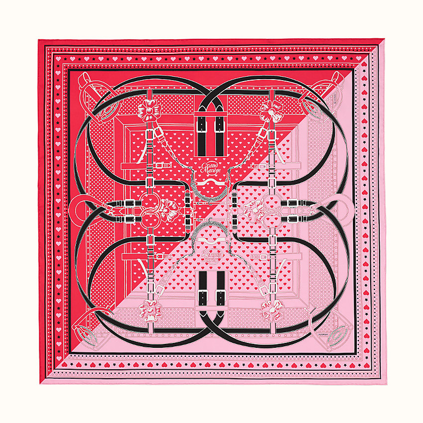 zoom image, Grand Manege Bandana Love scarf 70