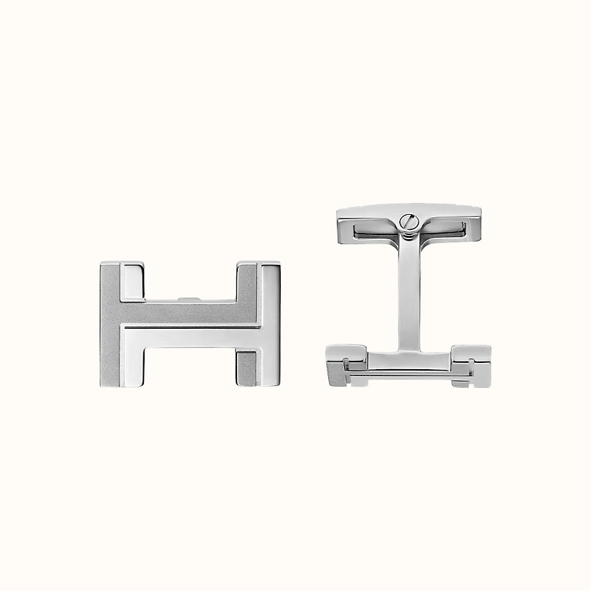 zoom image, H au Carre cufflinks