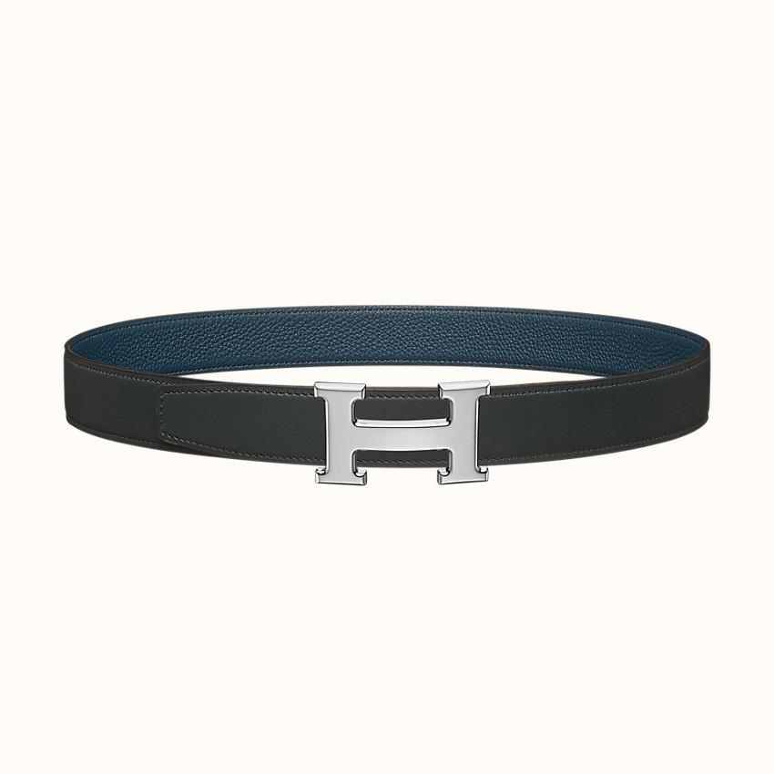 zoom image, H belt buckle & Reversible leather strap 32mm