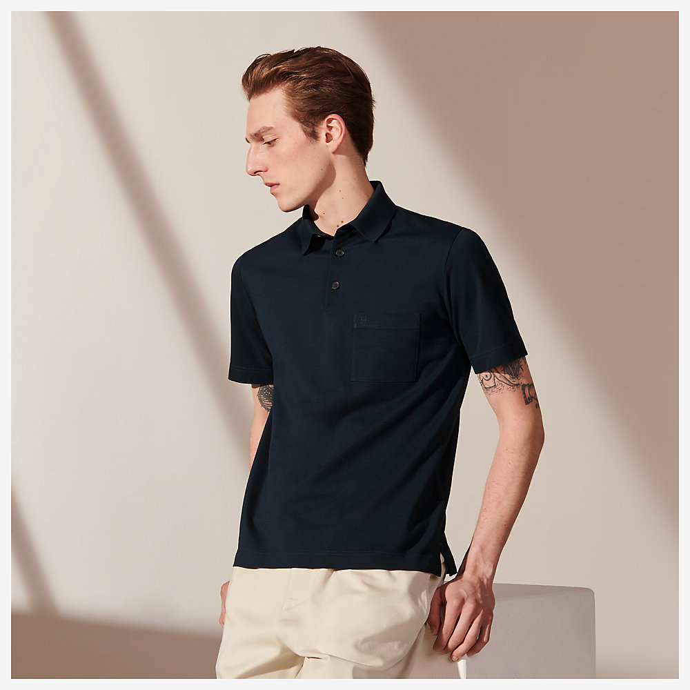 Mens Pique Polo Shirt T-Shirt Top Short Sleeve Chest Pocket Casual Size S-XXL