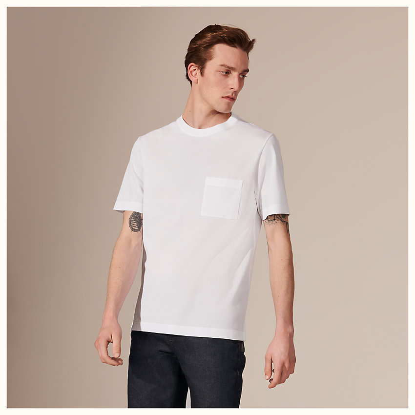zoom image, H embroidered T-shirt