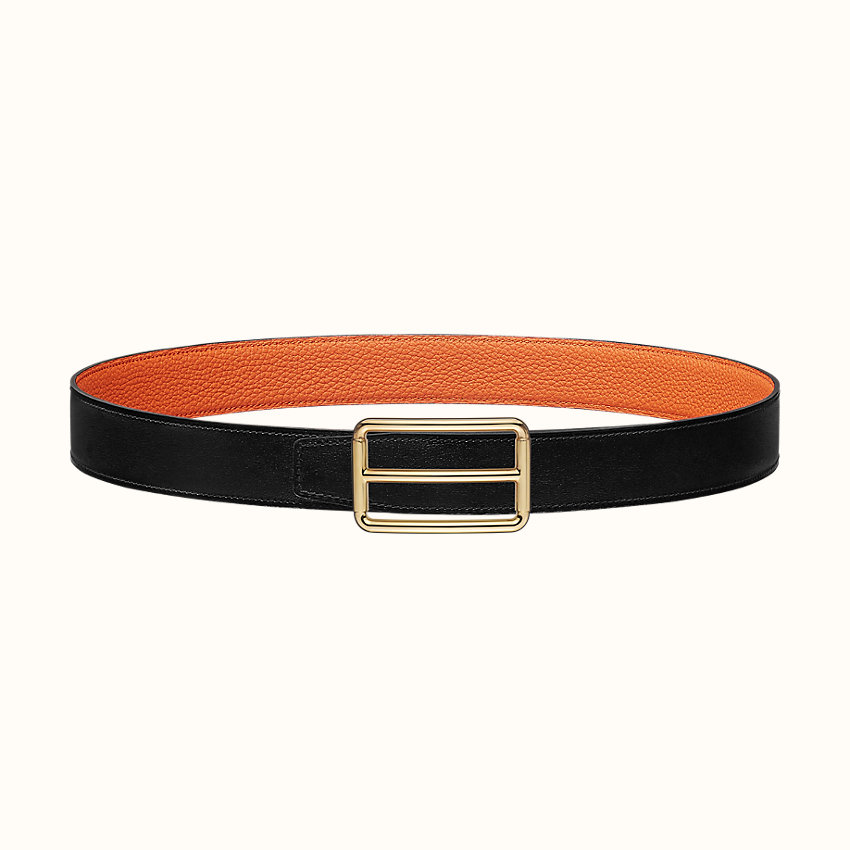 zoom image, H Rouleau belt buckle & Reversible leather strap 32mm