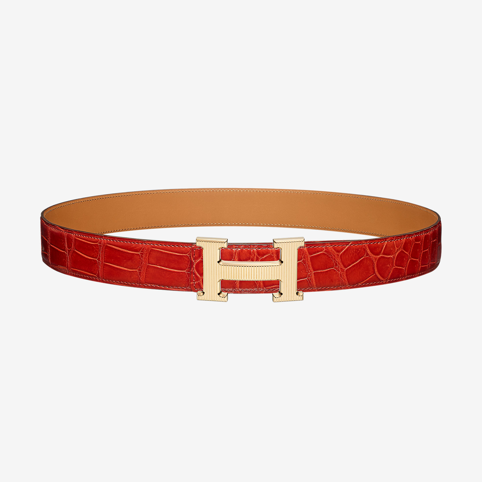 Precio pagable bastante agradable lindo baratas H Strie belt buckle & Leather strap 32 mm