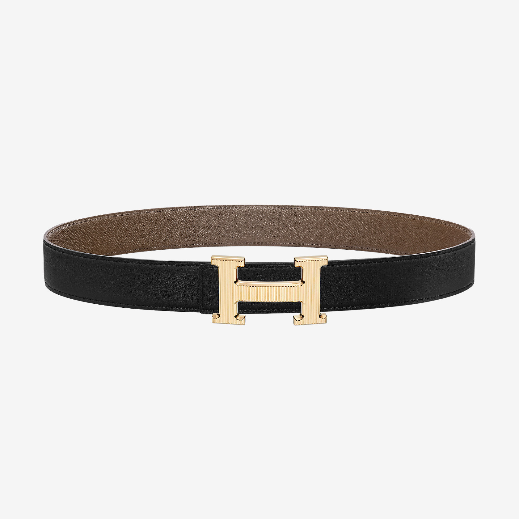 h striee belt buckle reversible leather 32 mm herm 232 s