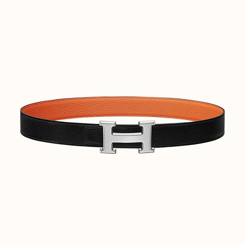 imagen de zoom, Hebilla de cinturón H & Piel de cinturón reversible 32mm