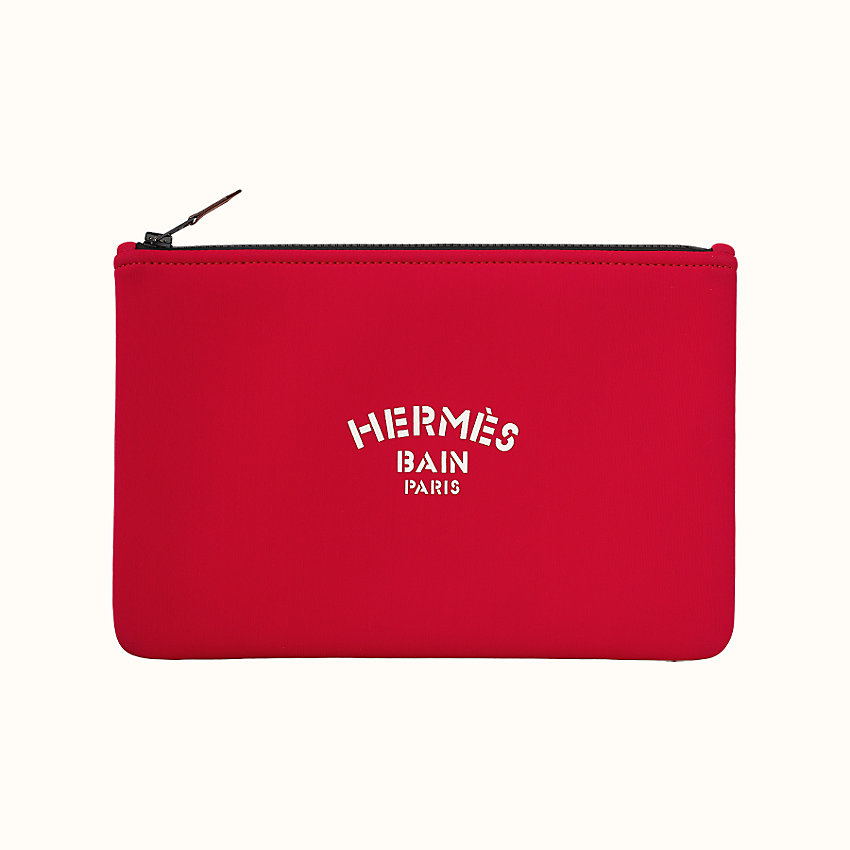 "zoom image, ""Hermès Bain"" Jaguar Quetzal Neobain case, medium model"