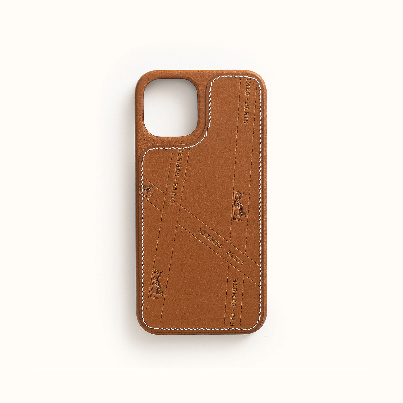View: front, Hermes Bolduc case with MagSafe for iPhone 12 and iPhone 12 Pro