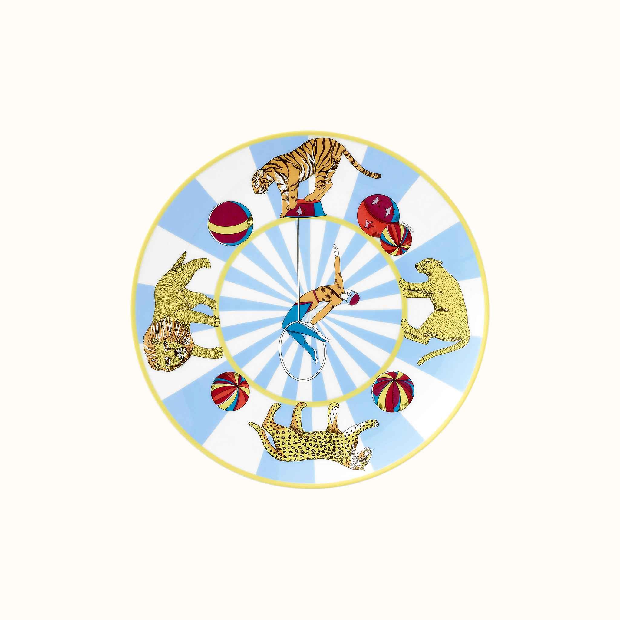 Hermes Circus dessert plate