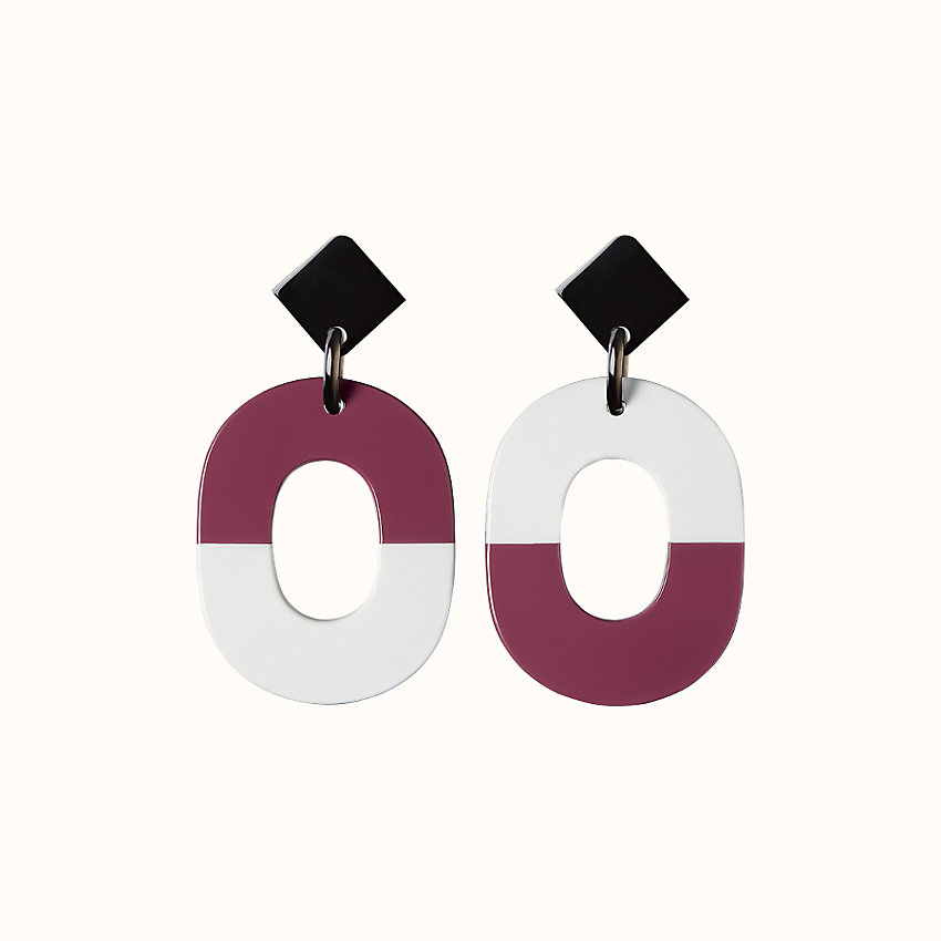 zoom image, Isthme colorblock earrings