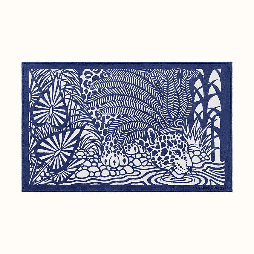 zoom image, Jaguar Quetzal beach towel