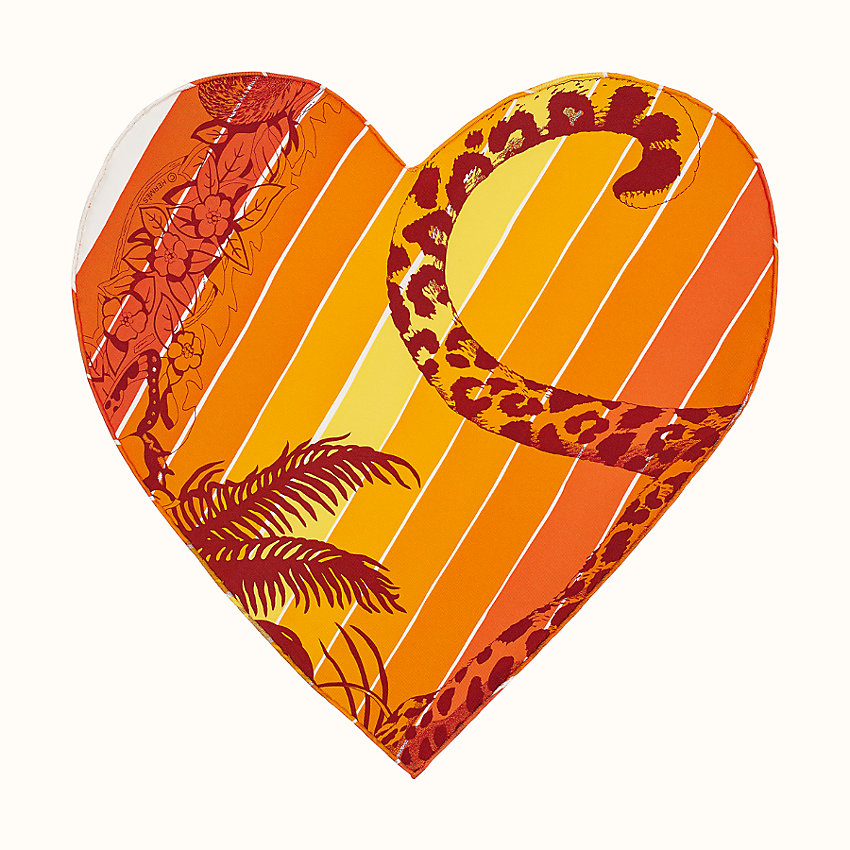 zoom image, Jungle Love Rainbow pocket square