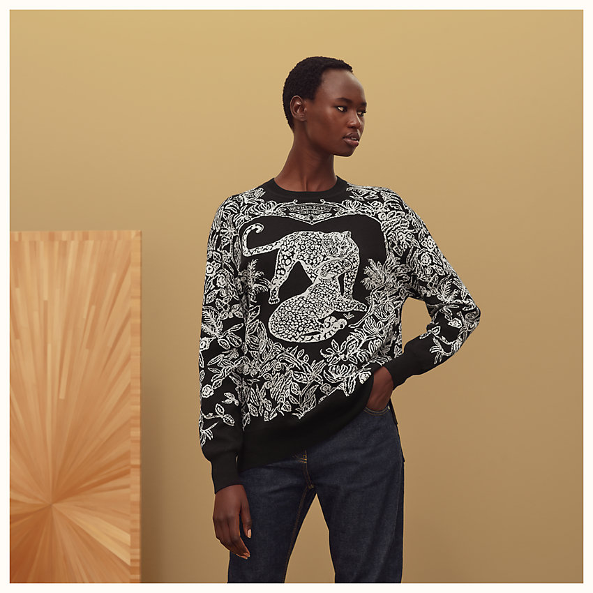 "zoom image, ""Jungle love"" wide sweater"