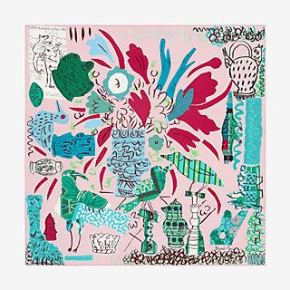 La Maison des Oiseaux Parleurs scarf 90 - front