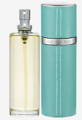 Caleche eau de toilette refill & Refillable leather case -