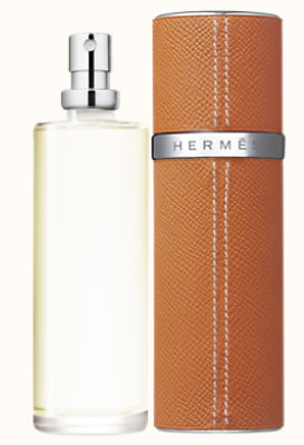 Terre d'Hermes Eau de toilette refill & Refillable leather case