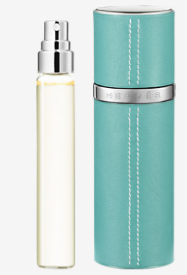 Un Jardin sur le Nil Set of 3 Eau de toilette refills & Refillable leather case -