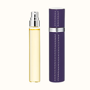 Terre d'Hermes Set of 3 Eau de toilette refills & Refillable leather case