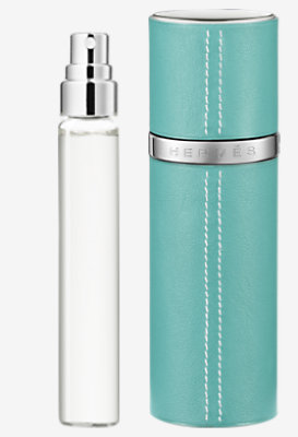 Un Jardin sur le Toit Set of 3 Eau de toilette refills & Refillable leather case -