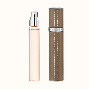 Twilly d'Hermes Set of 3 Eau de parfum refills & Refillable leather case