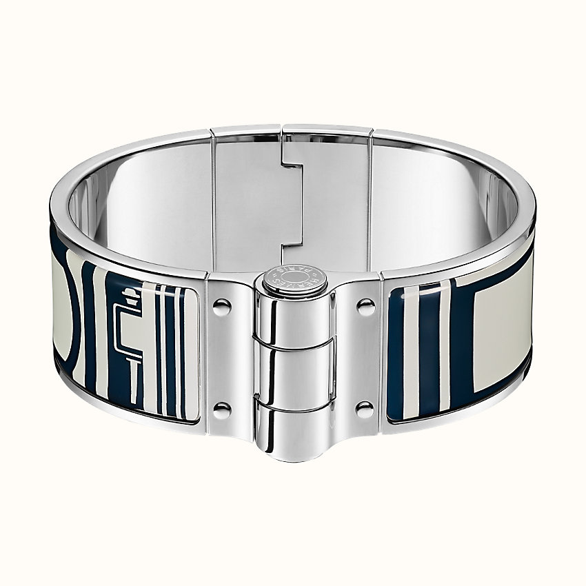 zoom image, Les Coupes Tattoo hinged bracelet