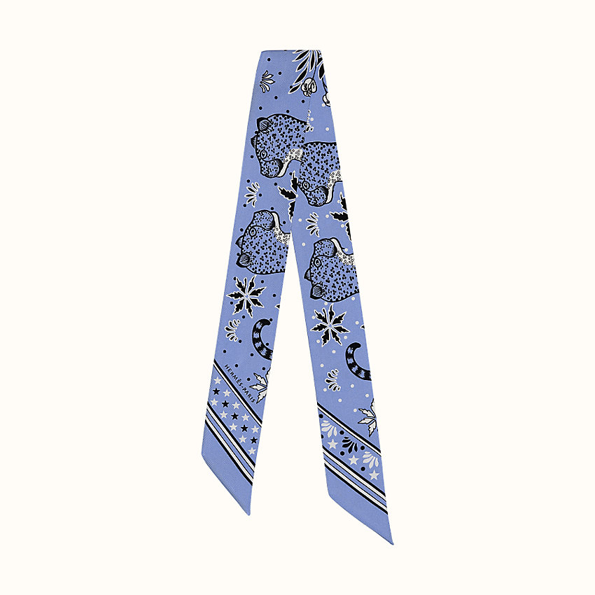 zoom image, Les Leopards Bandana twilly