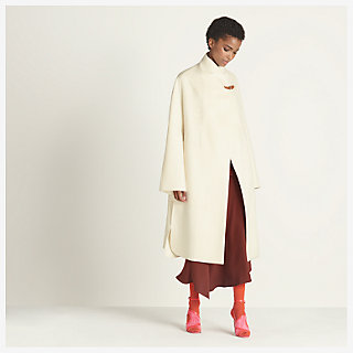 Long collar coat - worn