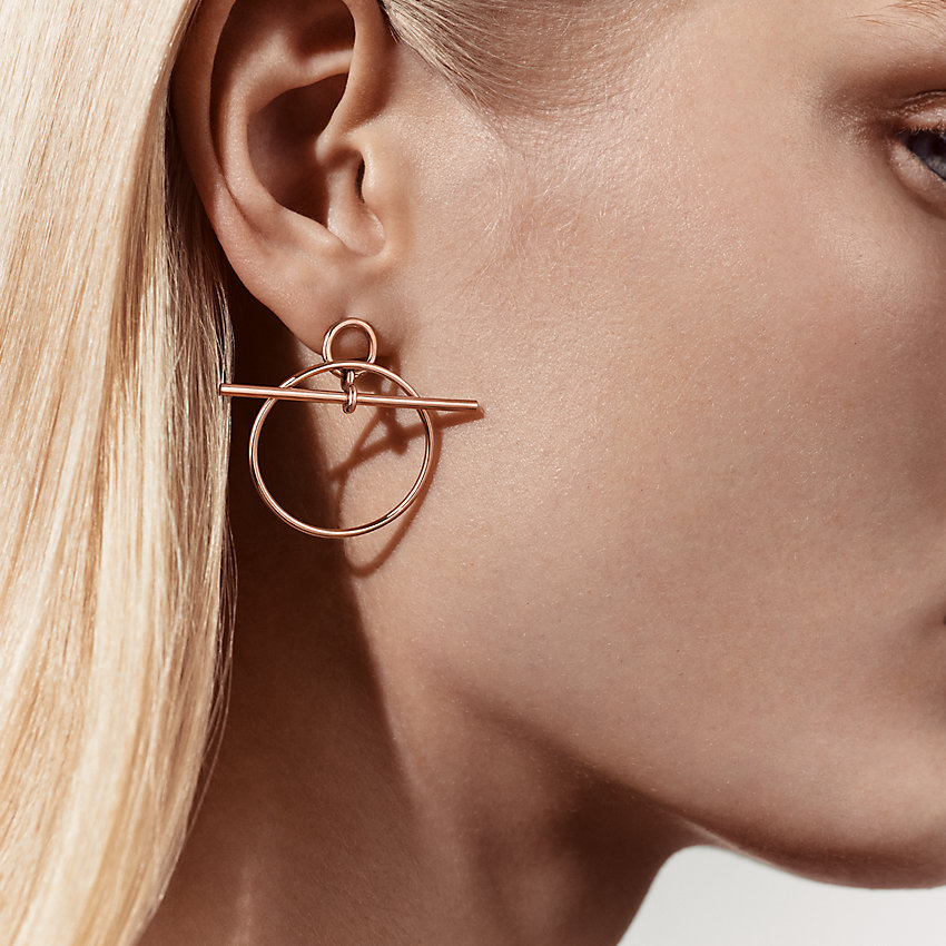 zoom image, Loop earrings, small model