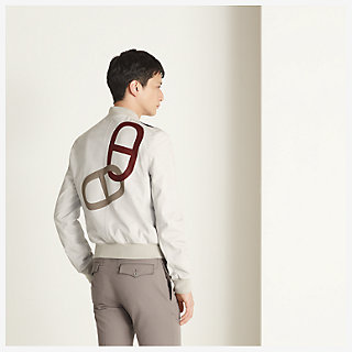 'Maillons Chaine d'Ancre' Incrustes Rib trim jacket - worn
