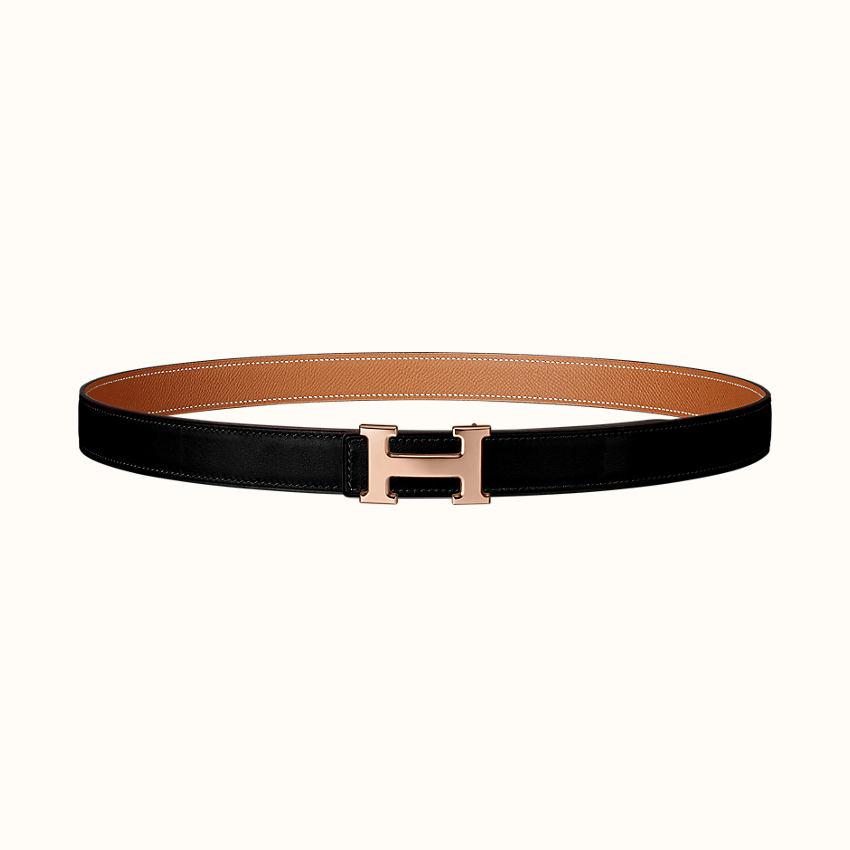 zoom image, Mini 5382 belt buckle & Reversible leather strap 24mm