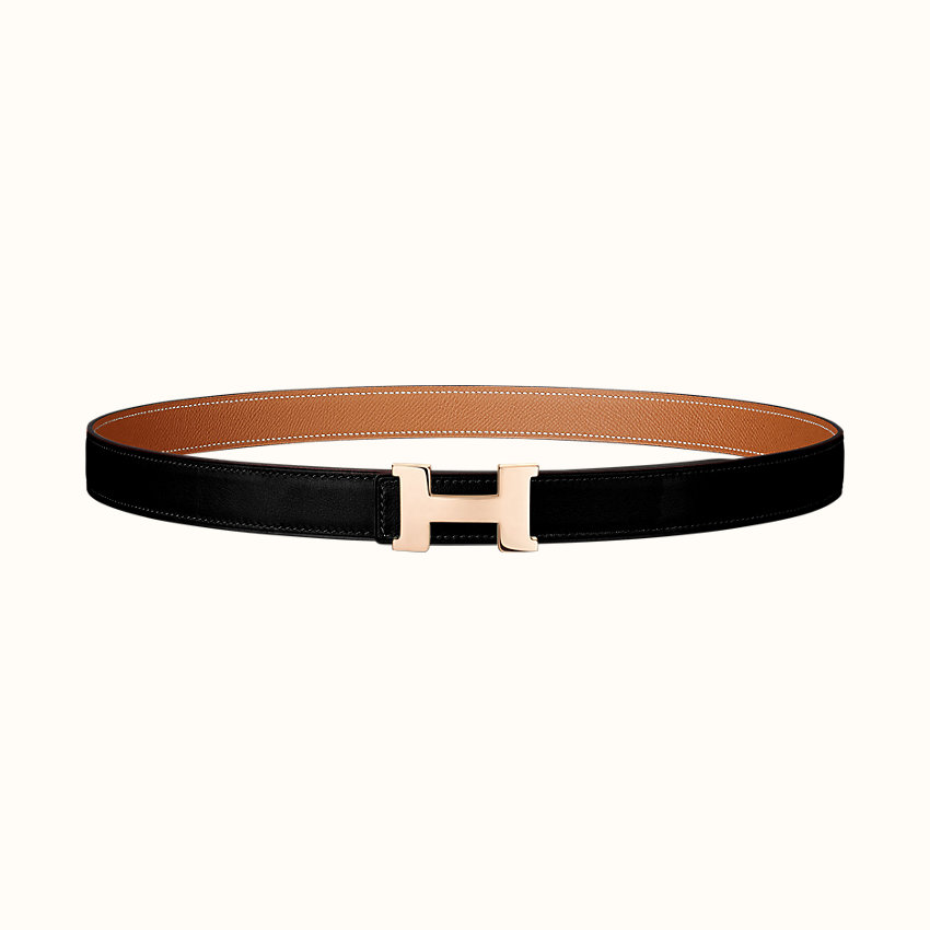 zoom image, Mini Constance belt buckle & Reversible leather strap 24mm