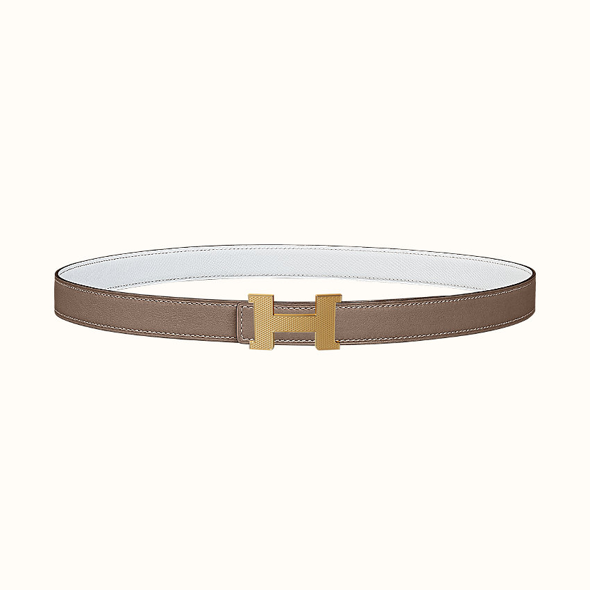 zoom image, Mini Constance Guillochee belt buckle & Reversible leather strap 24mm