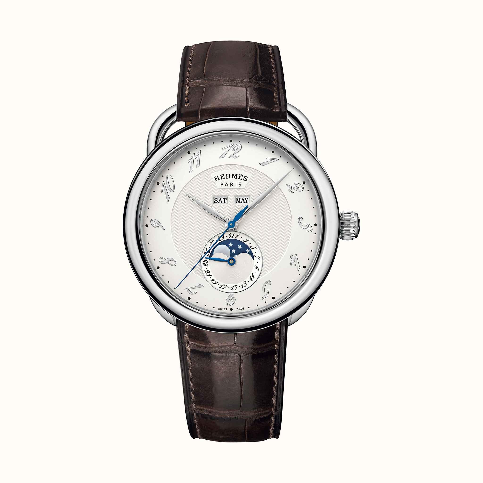 Montre Arceau Grande Lune, 43 mm   Hermès 4d21406fd7f