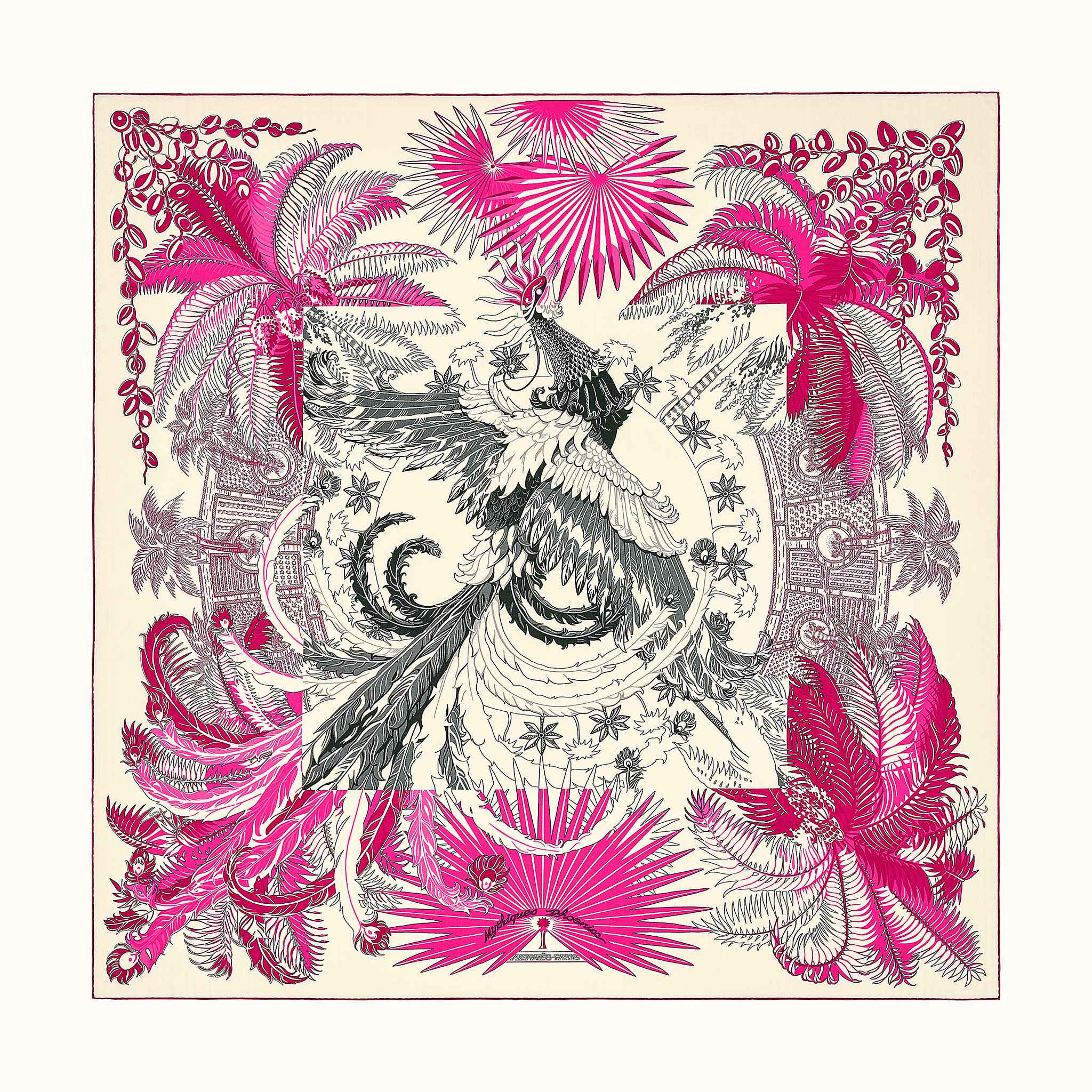 Mythiques Phoenix Coloriage Shawl 140 Hermes Usa
