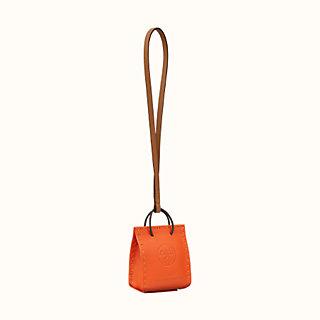 Orange Bag charm