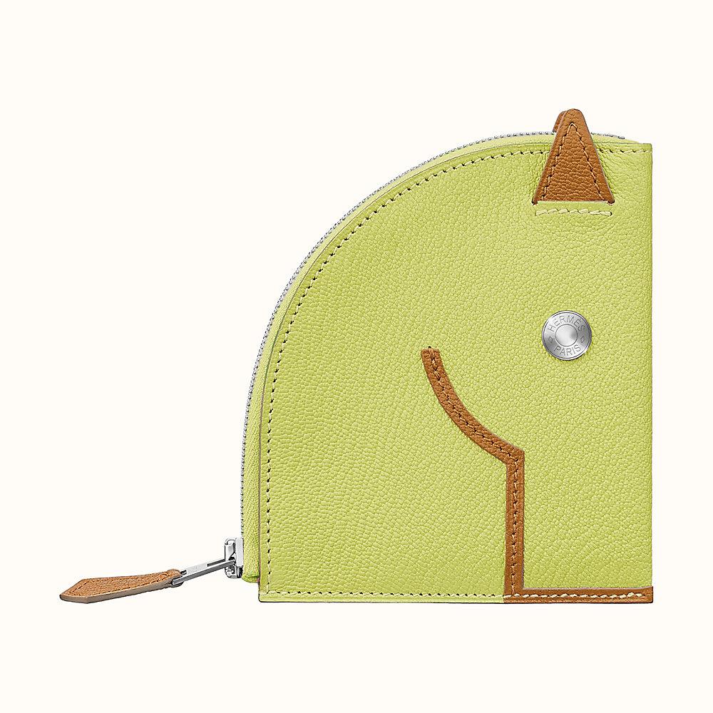 Zipper Pouch Yellow Horse Coin Purse Pouch