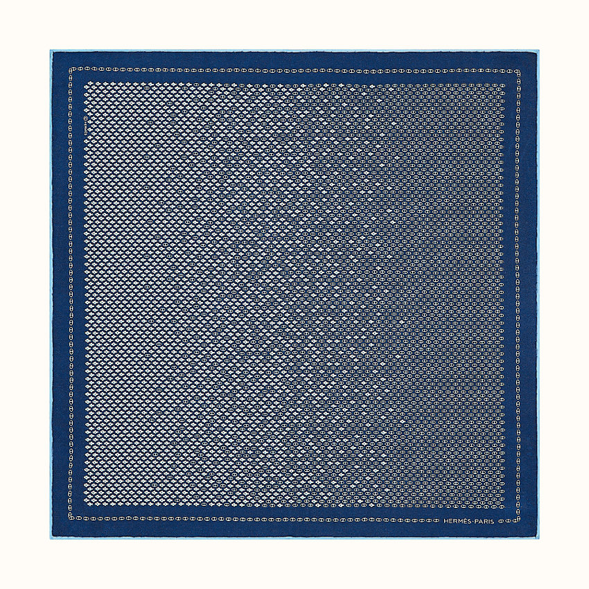 zoom image, Poissons-Maillons pocket square 45