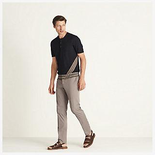 'Rayure diagonale' buttoned t-shirt - worn