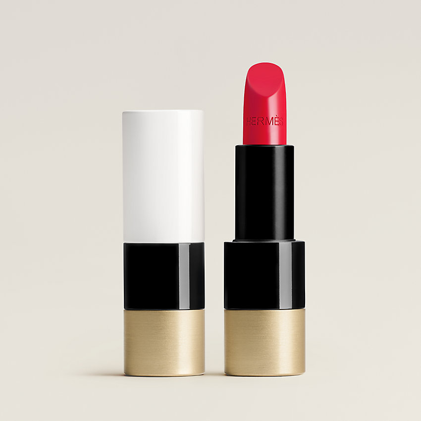 View: Worn, Rouge Hermes, Satin lipstick, Rouge Piment
