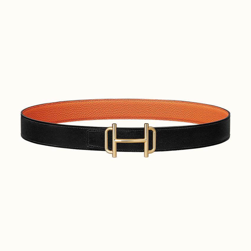 zoom image, Royal belt buckle & Reversible leather strap 32mm