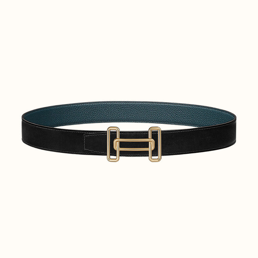 zoom image, Rythme belt buckle & Reversible leather strap 32mm