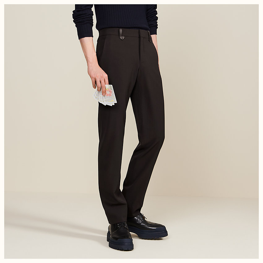 zoom image, Saint Germain fitted pants with leather belt loops