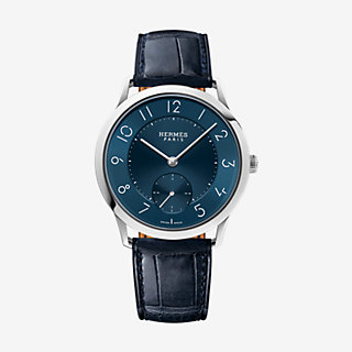 Slim d'Hermes watch, large model 39.5 mm - front
