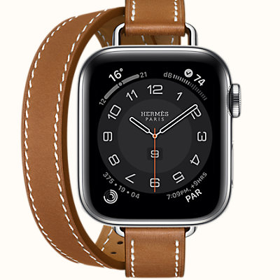 Series 6 case & Band Apple Watch Hermes Double Tour 40 mm Attelage