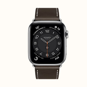 Series 6 case & Band Apple Watch Hermes Single Tour 44 mm Deployment Buckle