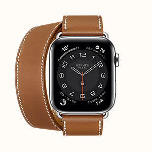 Series 6 case & Band Apple Watch Hermes Double Tour 44 mm