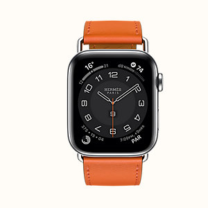 Series 6 case & Band Apple Watch Hermes Single Tour 44 mm Attelage