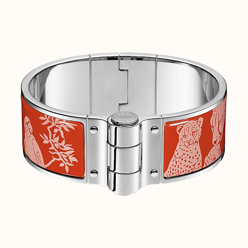 zoom image, Tendresse Feline Tattoo hinged bracelet