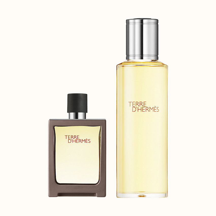 zoom image, Terre d'Hermes Eau de toilette travel spray and refill