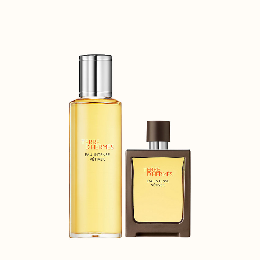 zoom image, Terre d'Hermes Eau Intense Vetiver Eau de parfum travel spray and refill